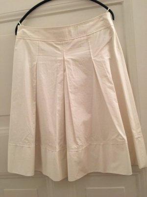 Hugo Boss Plaid Skirt white-natural white cotton