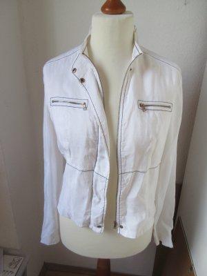 Schöner weißer Blouson Jacke aus Leinen
