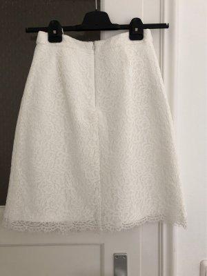 Esprit Falda de encaje blanco-blanco puro