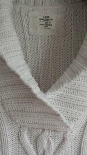 schöner weißer Strickpulli mit großem Kragen XS