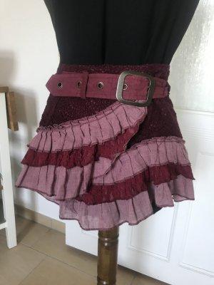 Jupe portefeuille mauve-violet