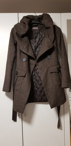 Orsay Gabardina tipo vestido marrón grisáceo