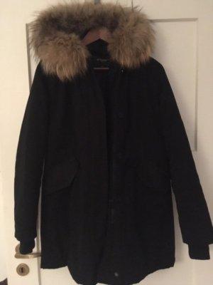Attentif Manteau en duvet noir