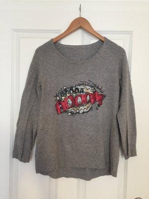 Kraagloze sweater veelkleurig Kasjmier