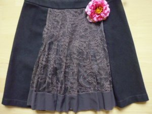 Tandem Wool Skirt multicolored wool