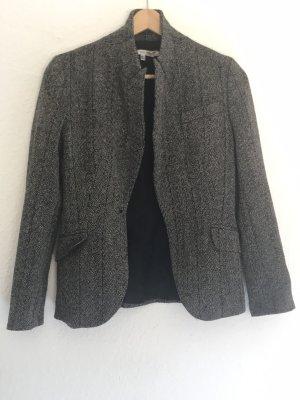 Zara Basic Blazer en laine noir-blanc cassé