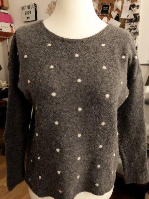 armedangels Wool Sweater grey-white