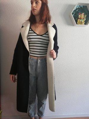 Zara Chaqueta holgada blanco-azul oscuro