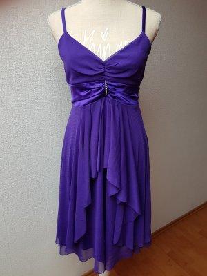 Schönes Abendkleid lila; Gr. 36/S