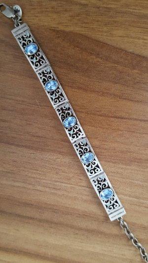 Schönes Armband im Antiklook mit blauen Kristallen von Dyrberg/Kern
