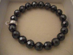 schönes Armband von Thomas Sabo, graue Perlen + Haken für Charm