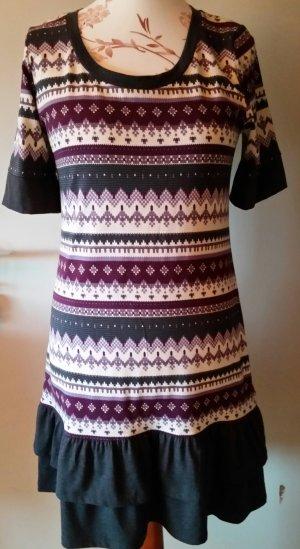 b.p.c. Bonprix Collection Vestido estilo camisa gris-lila