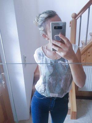 Schönes Basicshirt in Chiffonähnlichem Stoff Blogger Trend Musthave