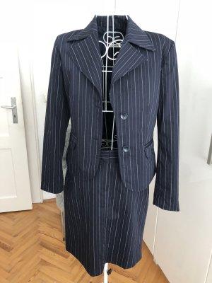 More & More Ladies' Suit white-dark blue
