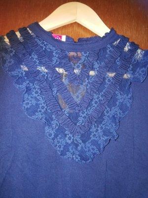 Schönes blaues Shirt mit 3/4 Arm