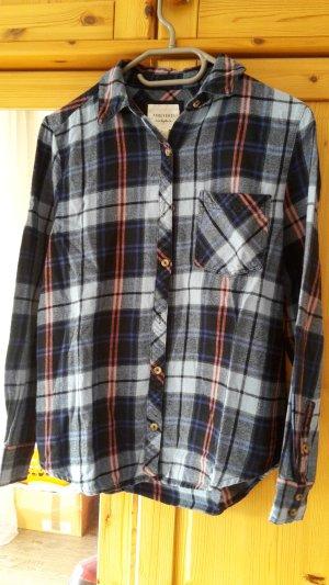 Forever 21 Flanellen hemd donkerblauw-leigrijs