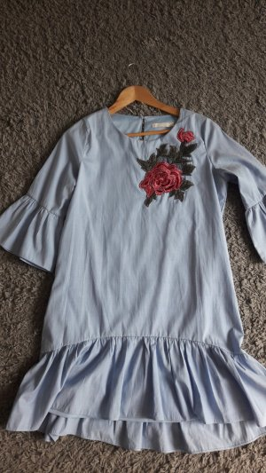 Vera & Lucy Flounce Dress azure cotton