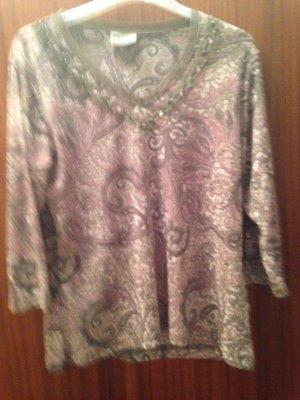 Schönes Blusenshirt in grösse 44 am Halsausschnitt mit Pailetten