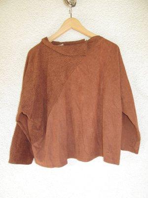 Schönes braunes T-Shirt Lederoptik Vintage Retro Gr. M/L
