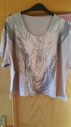 Calvin Klein Jeans Top extra-large vert olive-rose chair viscose