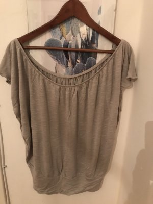 Ann Christine Frill Top light grey