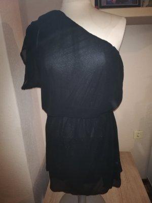 Lesara One Shoulder Dress black