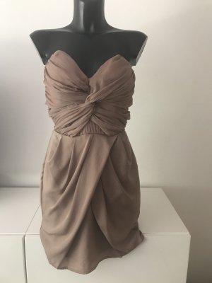 Schönes Cocktailkleid ohne Träger, Bandeaukleid, Bustierkleid