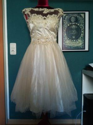 Niente Vestido de baile crema