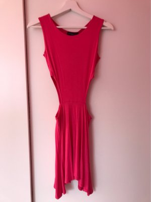 Missguided Abito cut out rosso lampone