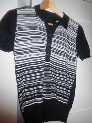schönes D & G Shirt schwarz und weiß gestreift, gute Qualität, Größe 38
