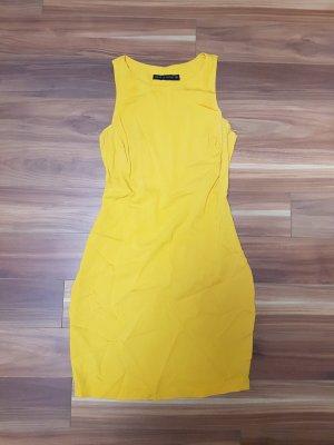 schönes Damen Kleid in gelb-orange senf von Zara Gr. S