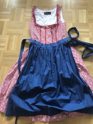 Berwin & Wolff Vestido Dirndl rojo frambuesa-azul Algodón