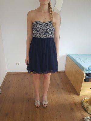 Off the shoulder jurk donkerblauw