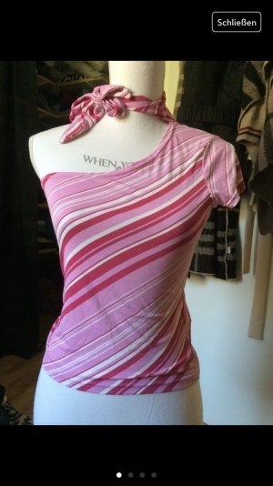 Schoenes einärmliges Oberteil in weiß/rosa/pink