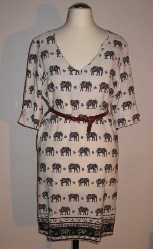 Schönes, elegantes Kleid mit Elefantenprint von Be Girl Paris