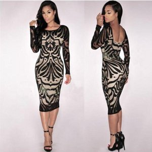 schönes enges Knielanges Kleid