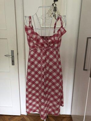Schönes Esprit Kleid mit Rüschen pink/weiß kariert Grösse 38