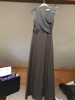 Schönes feines langes dunkelgraues Kleid, Größe 36