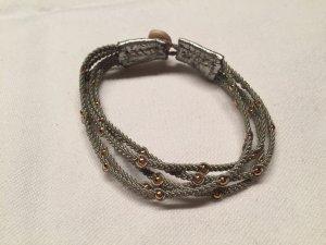 Schönes Flecht-Armband Silber-Gold