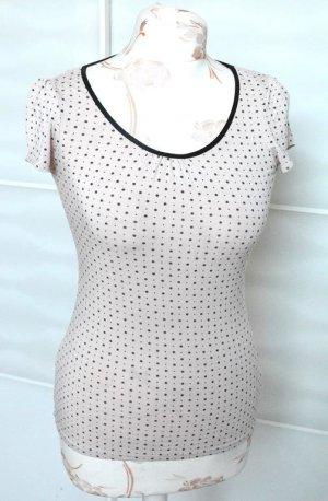 schönes gemustertes Shirt mit Rundhals-Ausschnitt in Gr. XS-S