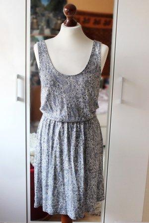 Schönes gemustertes Sommerkleid blau-weiß H&M 36 S