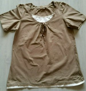Giada Camisa blanco-marrón claro