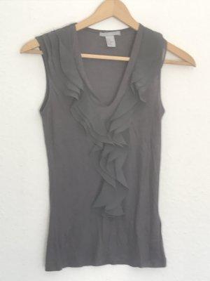 H&M Flounce Top dark grey