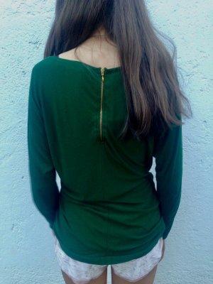 Schönes grünes Shirt mit Reißverschluss