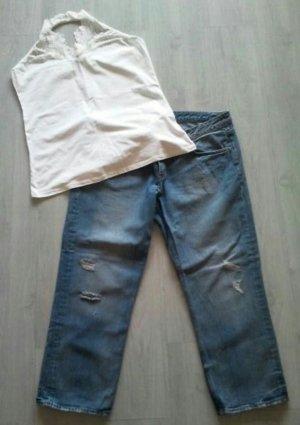 Schönes H&M Kleiderpaket Jeans mit Neckholder Top Gr. XL