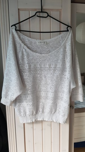 Abercrombie & Fitch Knitted Jumper white
