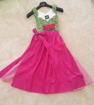 Hammerschmid Vestido Dirndl rosa-verde