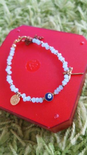 Bracelet bleu clair-brun sable