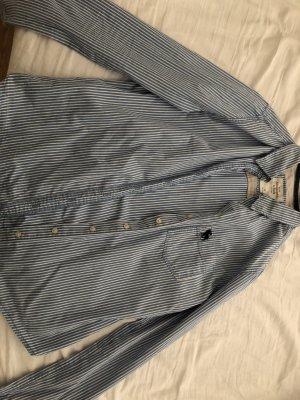 Abercrombie & Fitch Camisa de manga larga blanco-azul