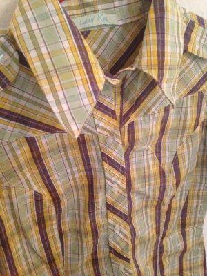 Chemise à manches courtes multicolore coton